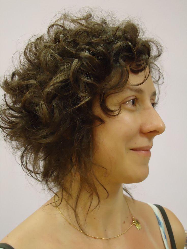 curly layered wispy-edged inverted bob | hair | Pinterest