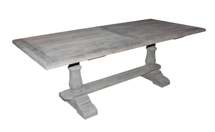 Dining Table: Gray Washed Dining Table