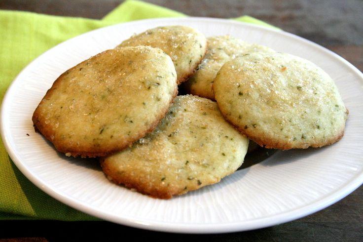 Lemon-Lime Basil Shortbread Cookies | Cookies | Pinterest