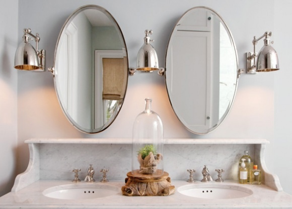 Mirrors/Lights Over Double Sinks