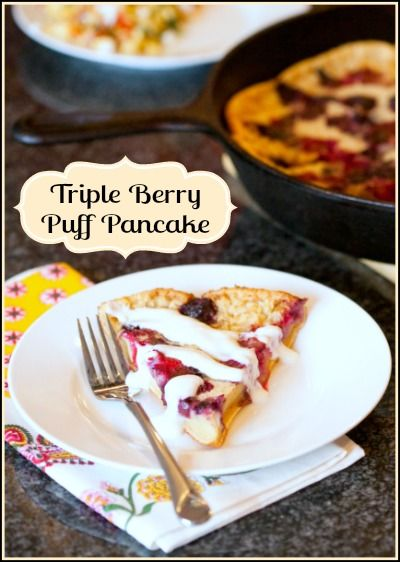 Perfect spring and summer breakfast: Oven baked triple berry puff ...