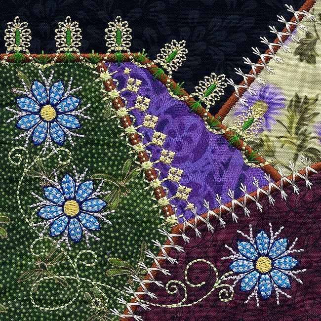 Crazy Quilt Embroidery Patterns Cafca Info For