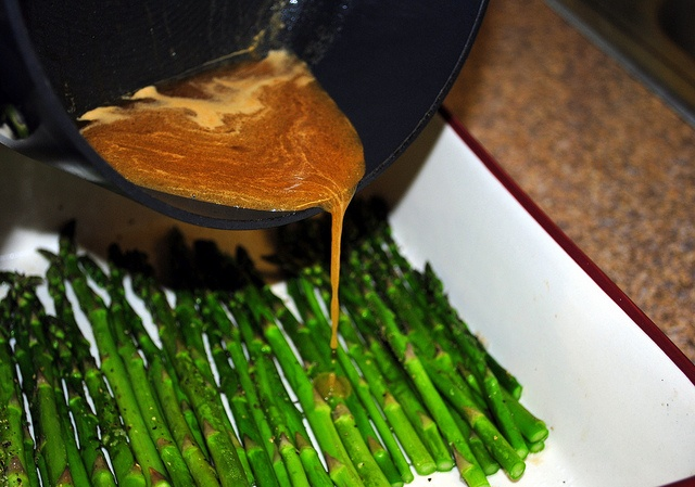 Baked Asparagus with Balsamic Butter Sauce by my friend Jamie