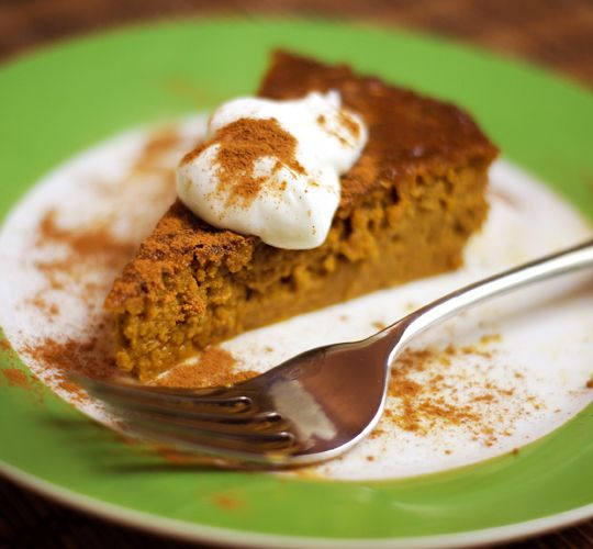 Gluten Free Vegan pumpkin pie from whole pumpkin
