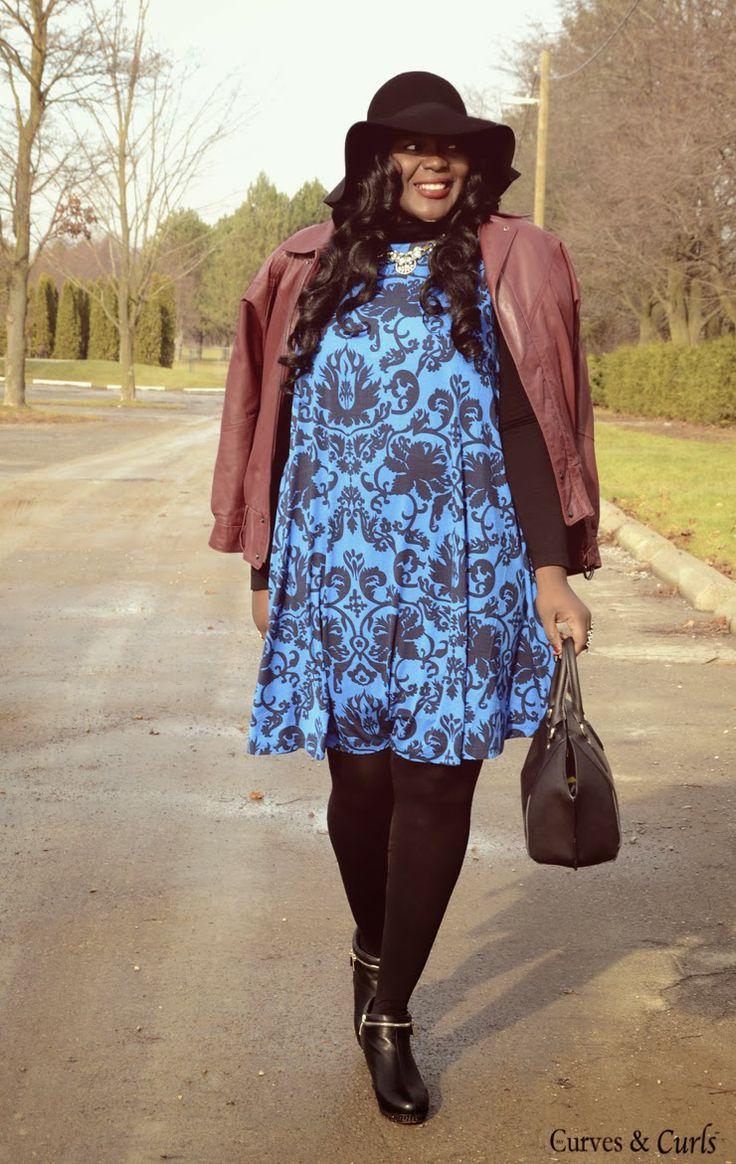 baroque swing dress.Plus size fashion for women 2014