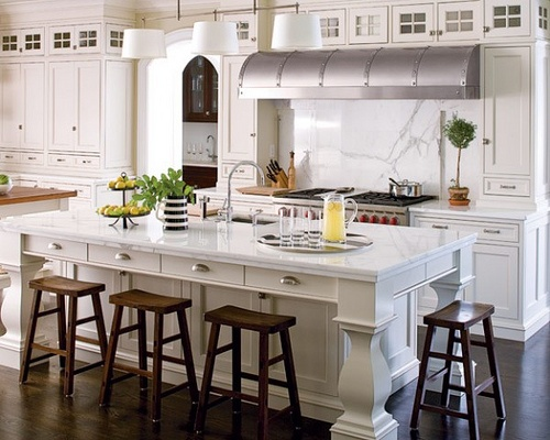Island Shallow Drawers On Seating Side Kitchens Pinterest