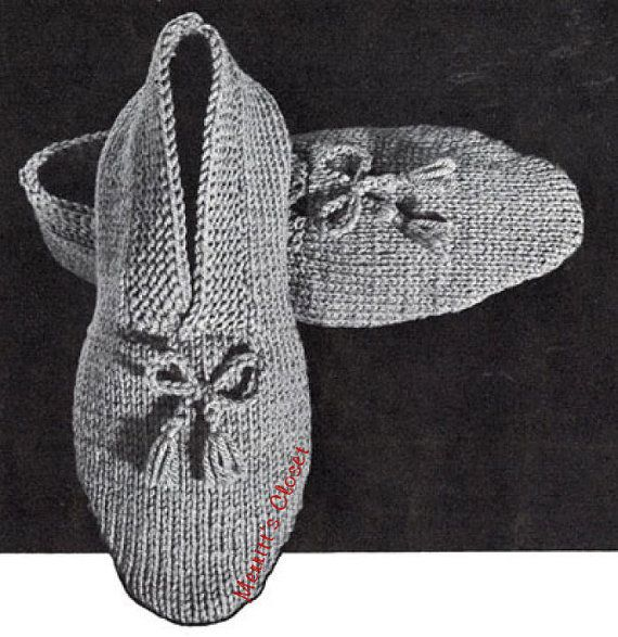 Knitted House Slippers Pattern : 301 Moved Permanently