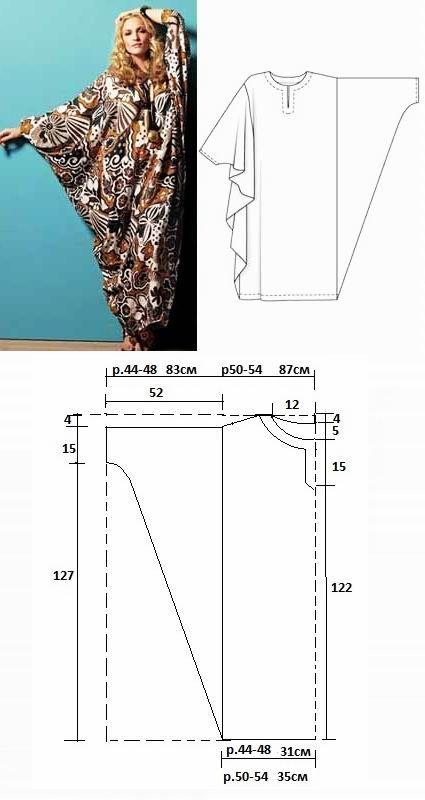 Выкройка платье балахон своими руками