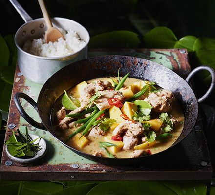 Chicken curry with lime leaf, lemongrass & mango | BBC Good Food