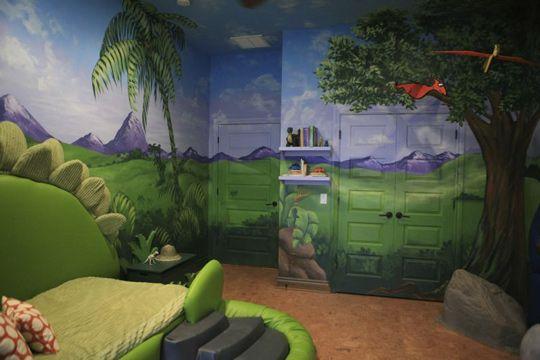 Habitacion dinosaurios 2 dormitorios para ni os - Dormitorios infantiles tematicos ...