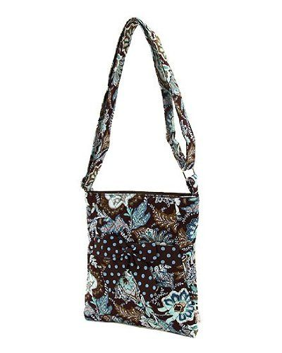 Belvah Quilted Floral Hipster Crossbody Handbag