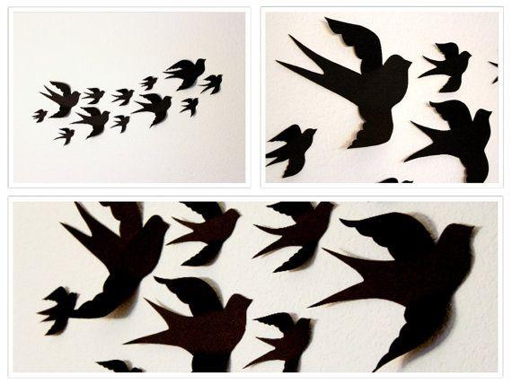 3d Wall Decor Birds : Birds d wall decor art nursery boys room
