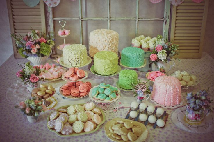 tea party cakes! see more at www.KarasPartyIdeas.com