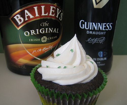 Guinness Stout Cupcakes With Whiskey Ganache and Bailey's Cream ...