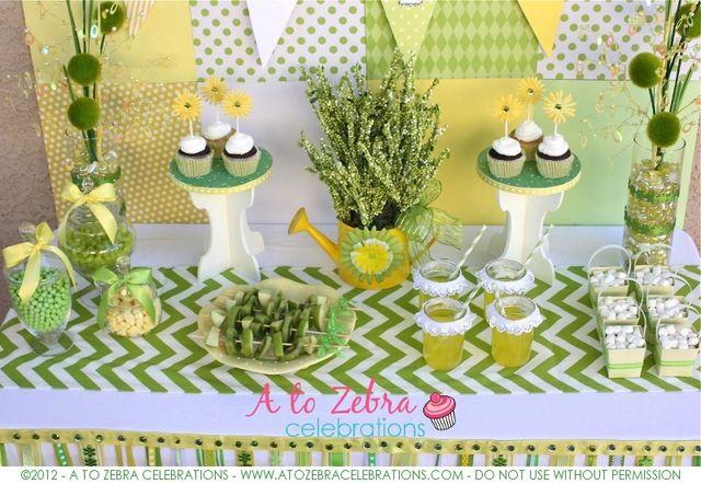 spring dessert table