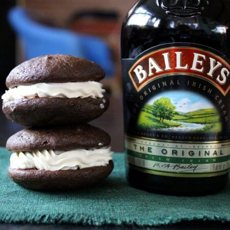 Chocolate-Coffee Whoopie Pie with Baileys Filling