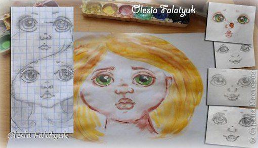 Как рисуют лица тильд