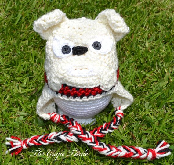 Crochet Georgia Bulldog Hat, Georgia Bulldog Crochet, Boy ...