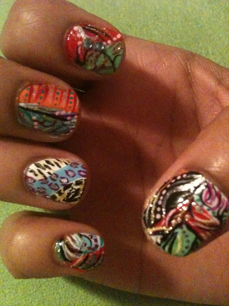 My nail design | My crazy nail art designs (original) | Pinterest