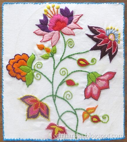 Flowers Hand Embroidery (24) | Everything Beautiful | Pinterest