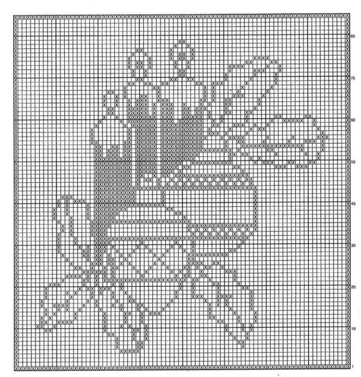 Рождество схемы филейное вязание 65