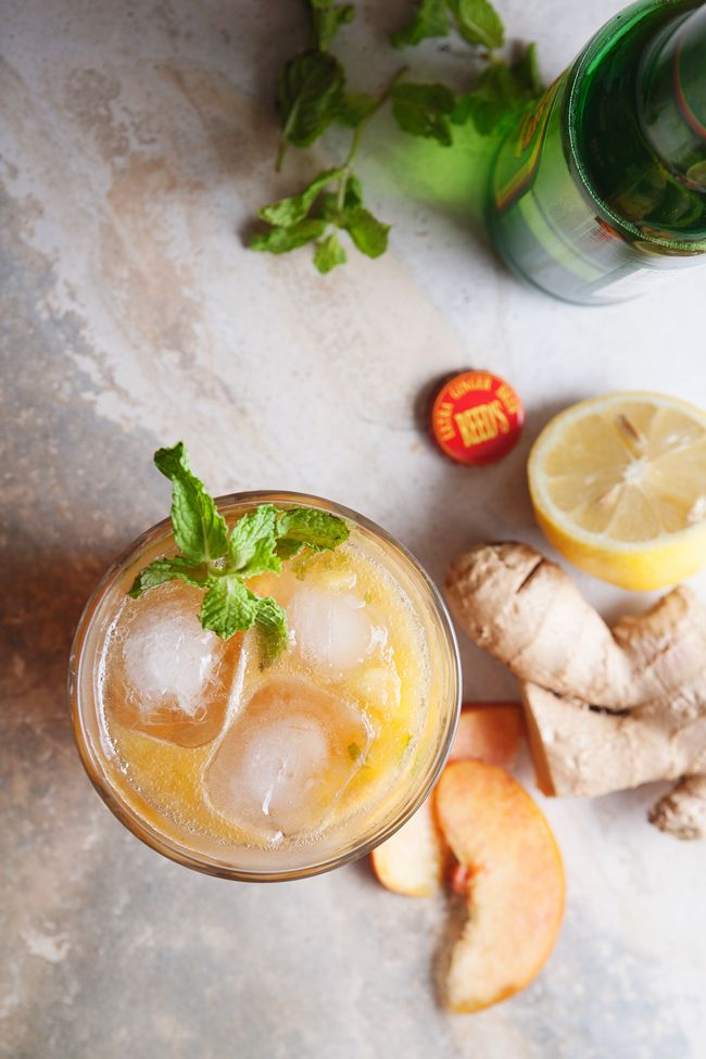 Ginger Peach Julep - Peaches, Mint, Bourbon, Lemon Juice, Ginger Syrup ...