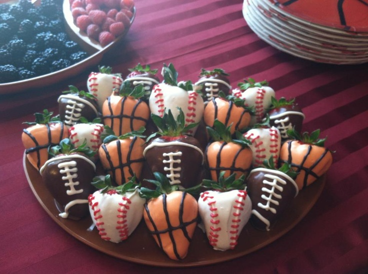 Sports Chocolate Covered Strawberries | Sports night for the men. | P ...