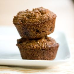 Molasses, Sour Cream and Bran Muffins. I substituted applesauce for ...