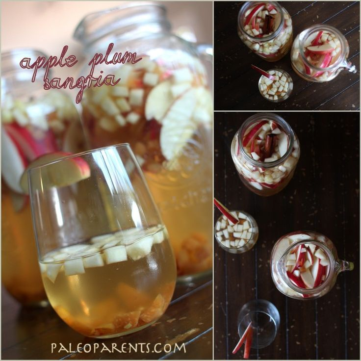 Apple Plum Sangria | Paleo - Beverages | Pinterest