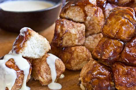 dixie caviar - monkey bread with Bourbon Creme Anglaise