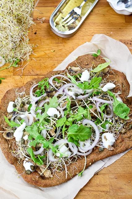 ... of domestic (blue flowered alfalfa ~ Smoked Herring and Yogurt Pizza