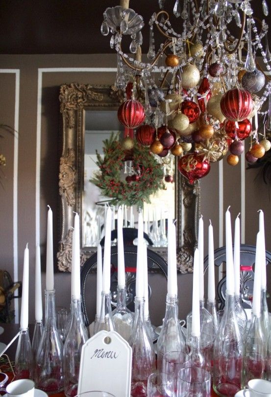Christmas decorations for dining room chandelier images for Christmas decorating ideas for dining room chandelier
