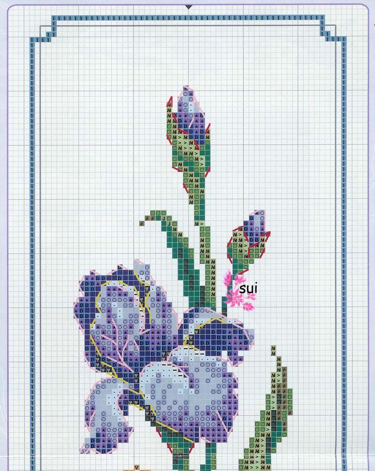 Схемы вышивок крестиком цветов ирисы