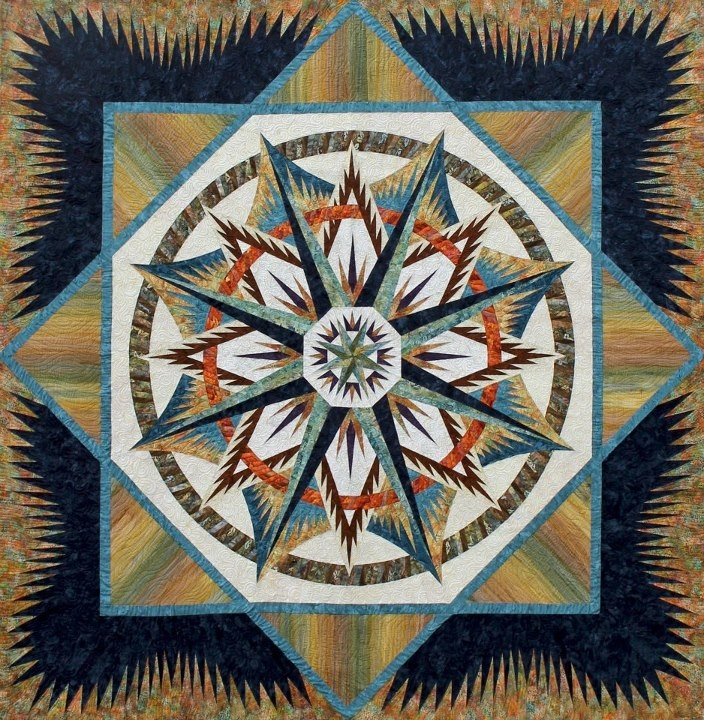 Quilting Patterns Mariner S Compass : Mariner s Compass ~ Quiltworx. Star Quilts Pinterest