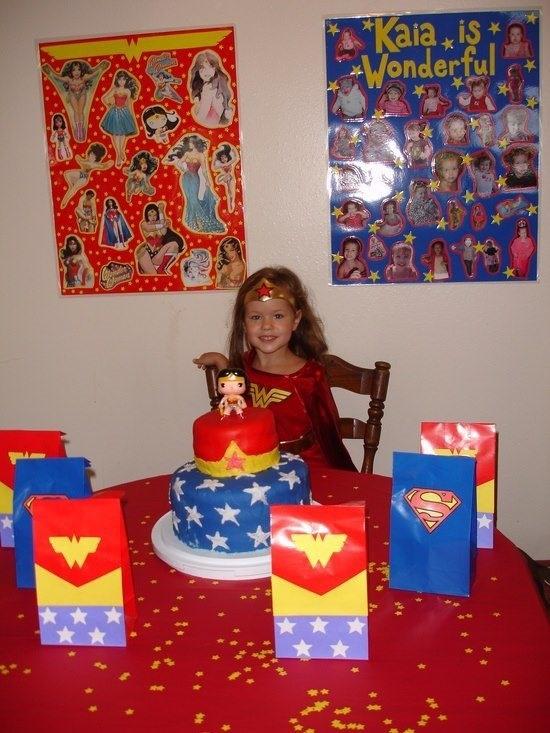 Mujer maravilla decoracion d fiestas pinterest for Decoracion wonder woman