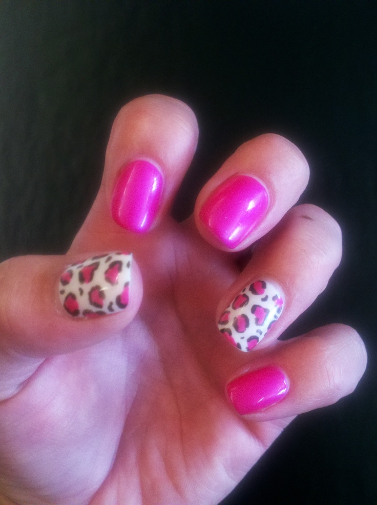 Shellac Nails - Leopard with Tutti Fruitty