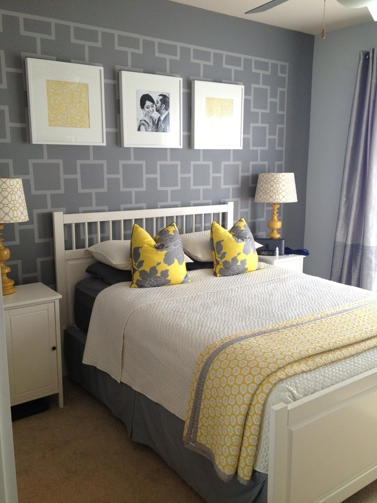 Another Shot Of Grey And Yellow Bedroom Ideas Pinterest