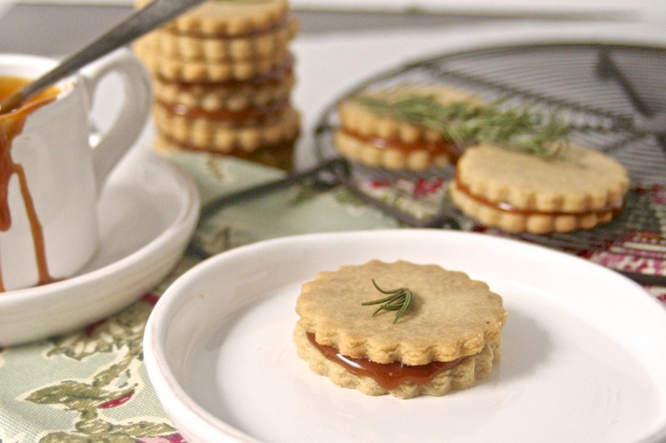 ... Rosemary Olive Oil Cookies with a Honey & Sea Salt Caramel Filling
