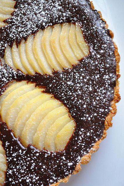 Chocolate pear tart | Chocolate dinner! | Pinterest