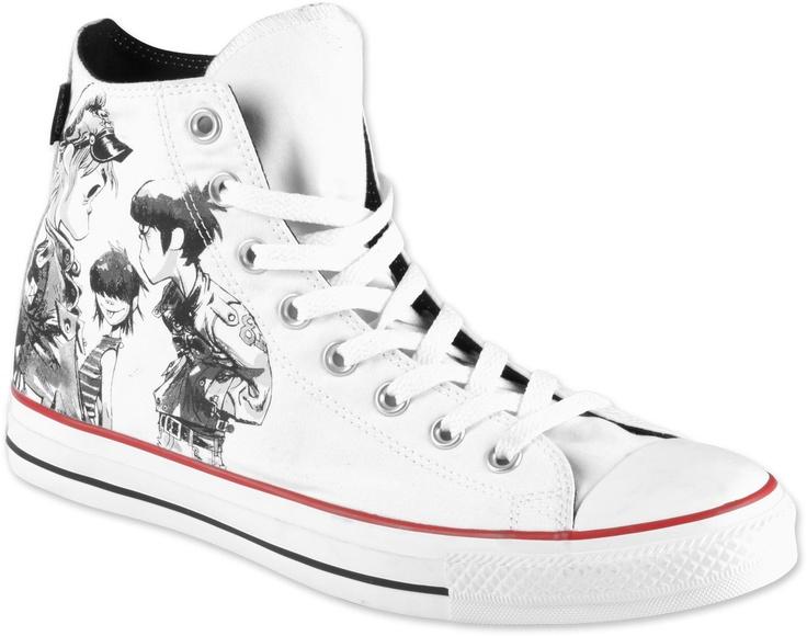 Converse All Star Hi Gorillaz shoes white