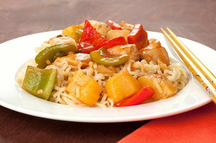Peppers ~ An easy take on sweet & sour chicken w/red & green pepper ...