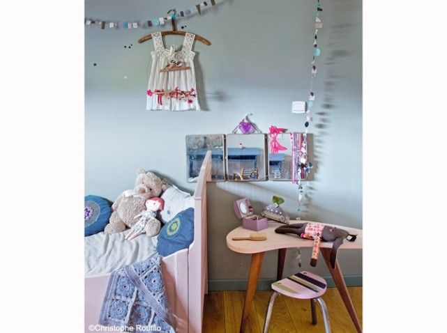 Cuisine Moderne Ilot Central Table : Chambrefille vintage rose  Bedroom pour les girls  Pinterest