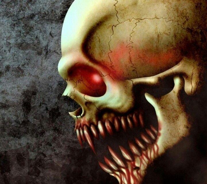 Vampire skull skulls pinterest