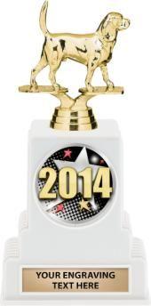 #Beagle #Dog Show #Award http://www.crownawards.com/StoreFront/TRVINW10.Cheerleading.Trophies.Vintage_White_Base_Trophy.prod