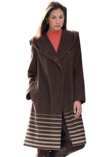 Fashion Bug Womens Plus Size Coat with Hooded Shawl Collar www