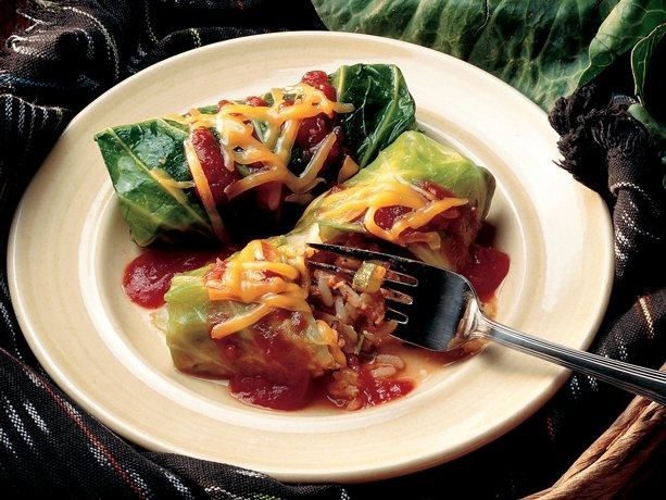 Good for you. Vegetarian Cabbage Rolls
