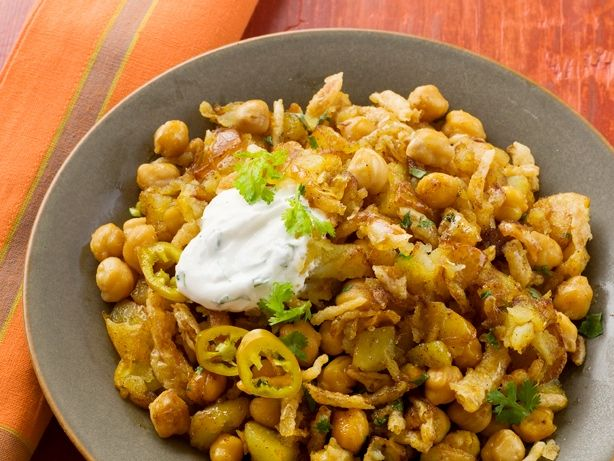 Curried Potatoes and Chickpeas from FoodNetwork.com - great reviews ...