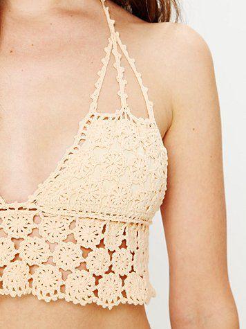 Free People Crochet Bikini