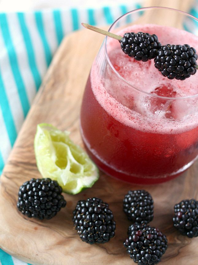 Blackberry Gin and Tonic.