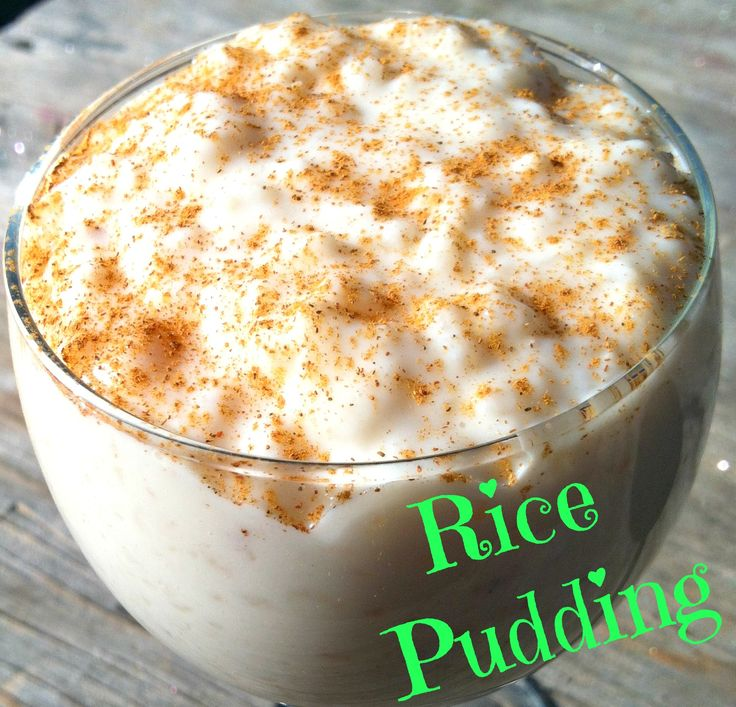 Light Rice Pudding - Just A Little Nutty | Recipes | Pinterest